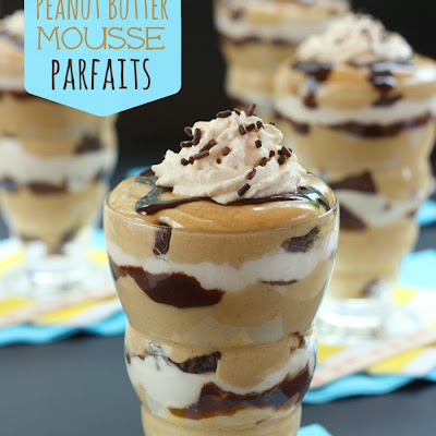Brownie Peanut Butter Mousse Parfaits