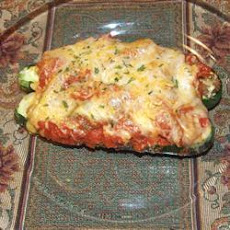 Sausage and Cheese Stuffed Zucchini