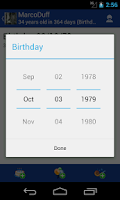Screenshot of Birthday Manager