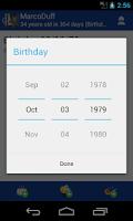 Screenshot of Birthday Manager