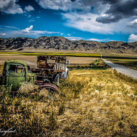 Road Less Travelled by Alice Burghart - Transportation Automobiles ( mountains, lonely road, old truck, rural, roads, abandoned,  )