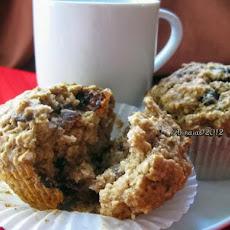 Oatmeal Cherry Applesauce Muffins