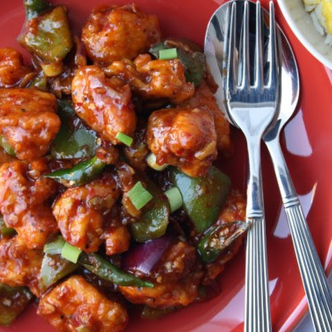 Indian Chilli Chicken – Batter fried chicken coated in a garlic, soy & chilli gravy