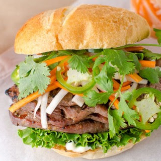 Lemongrass Pork Sliders with Daikon Carrot Slaw