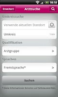 Screenshot of BundesArztsuche