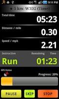 Screenshot of C25K Running AccuTrainer