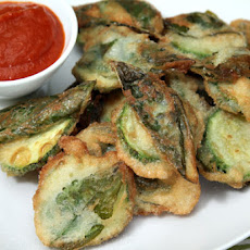 Zucchini Fritters with Sweet Basil