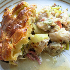 Leftover Turkey and Leek Pot Pie With Instant Gravy