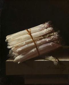 RIJKS: Adriaen Coorte: Still Life with Asparagus 1697