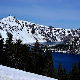 Crater Lake by Teresa Menard - Landscapes Mountains & Hills