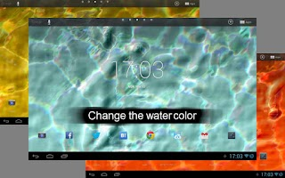 Screenshot of Fluid Motion+Clock LWP -FREE-