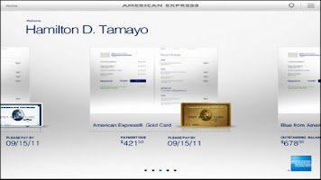 Screenshot of Amex for Tablet