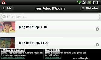 Screenshot of Jeeg Robot D'Acciaio