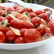 Late Summer Sauteed Tomatoes with Sweet & Savory Onions