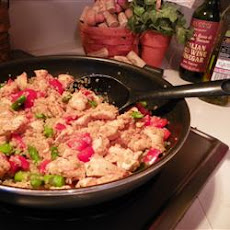 Quinoa with Chicken, Asparagus and Red Peppers