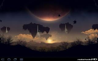 Screenshot of RadiantWalls HD - PlanetScapes