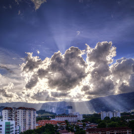 Ray of the sun... by Yow Chun Yin - Landscapes Cloud Formations