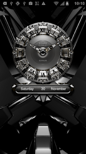SCHILDS Luxury Clock Widget - screenshot