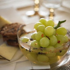 Pickled Grapes with Cheese