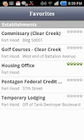 Screenshot of Fort Hood Directory