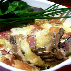 Mushroom and Cheese Strata