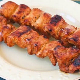 Chile Mustard Pork Kabobs