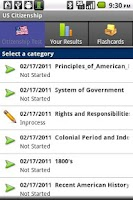 Screenshot of US Citizenship Exam and Prep