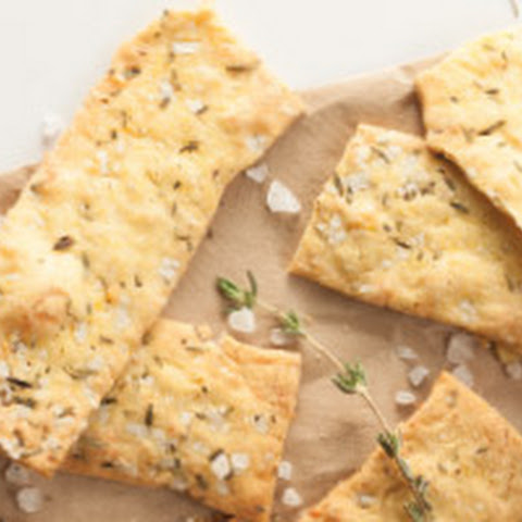 Cornmeal, Parmesan and Thyme Crackers