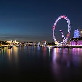 London Eye by Dimitar Novkov - Landscapes Travel ( london eye, london )