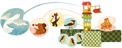 Google Doodle Leah Goldberg's 102nd Birthday