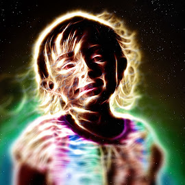 The northern light child. by David Bennett - Digital Art People