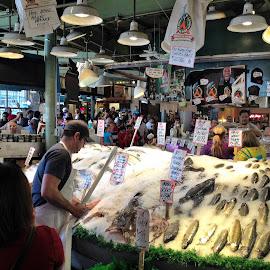 Seattle Fish Market by Kevin Dietze - City,  Street & Park  Markets & Shops