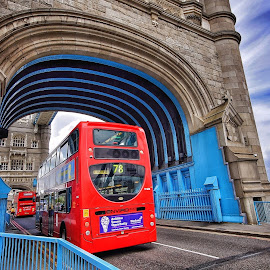 by Jose Figueiredo - City,  Street & Park  Street Scenes ( traffic, bus, london, tower bridge )