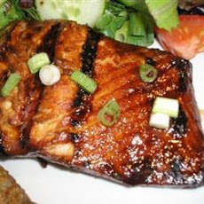 Honey Ginger BBQ Salmon