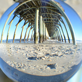 Under the Boardwalk. by Patricia Warren - Artistic Objects Glass ( water, sand, pier surf, wave, sea, ocean, beach, sun )