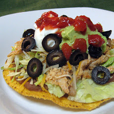 Chile Lime Chicken Tostadas