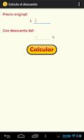 Screenshot of Calcula el descuento