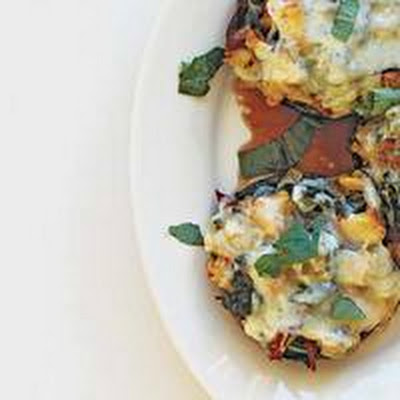 Cheesy Stuffed Portobellos