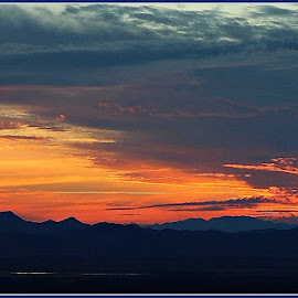 End of Sunset by Sylvia Berman - Novices Only Landscapes ( desert, sunset )
