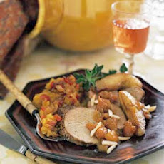 Roast Pork Tenderloin with Pears and Dried Apricots