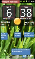 Screenshot of Sense Analog Clock Widget