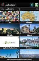 Screenshot of Applications for Australia