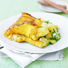 Fluffy Corn and Goat Cheese Omelet