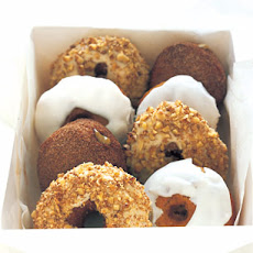 Pumpkin Doughnuts with Powdered Sugar Glaze and Spiced Sugar Doughnut Holes
