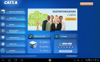 Screenshot of CAIXA para Tablets