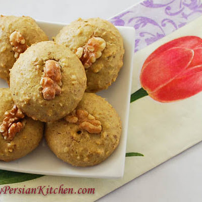 Naan Gerdooee ~ Persian Walnut Cookie