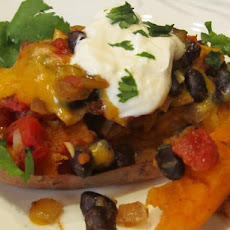 Southwestern Sweet Potatoes and Black Beans