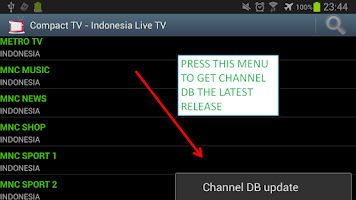 Screenshot of Live TV Indonesia