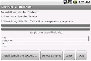 Screenshot of Electrum Pak Dubstep