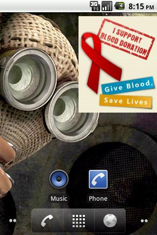 Blood Donor Support Sticker